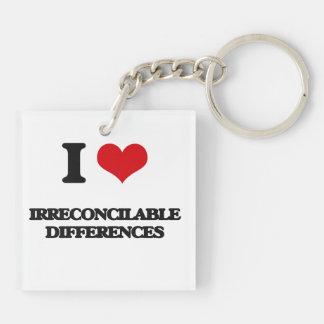 Amo diferencias irreconciliables llavero