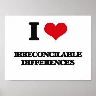 Amo diferencias irreconciliables impresiones