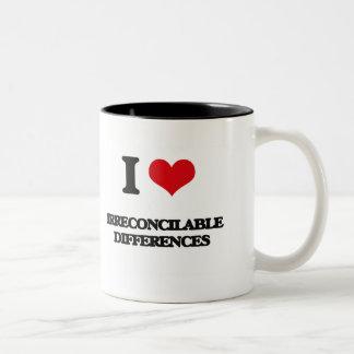 Amo diferencias irreconciliables taza de café