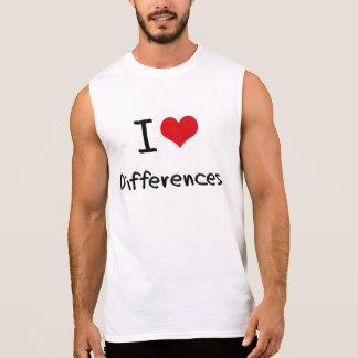 Amo diferencias camisetas