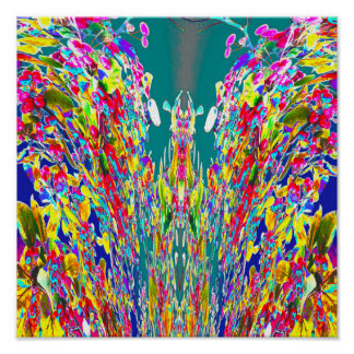 Amo digital de Reiki del flujo de energía de la Póster