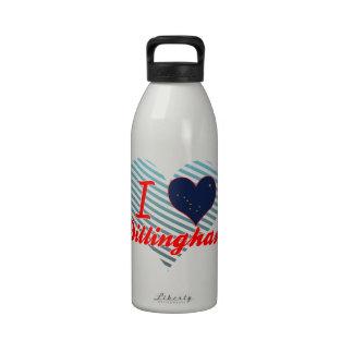 Amo Dillingham, Alaska Botella De Agua Reutilizable