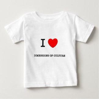 Amo DIMENSIONES de la CULTURA T-shirts