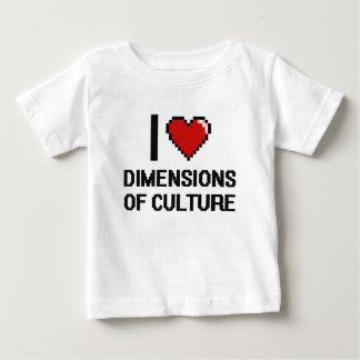 Amo dimensiones del diseño de Digitaces de la Camisetas