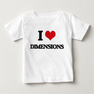 Amo dimensiones camiseta