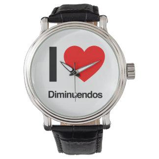 amo diminuendos relojes de mano