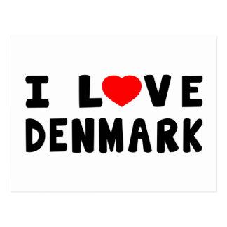 Amo Dinamarca Tarjetas Postales