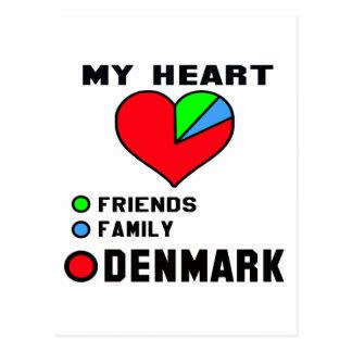 Amo Dinamarca Tarjeta Postal