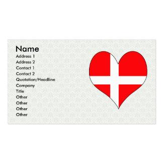 Amo Dinamarca Tarjetas De Visita