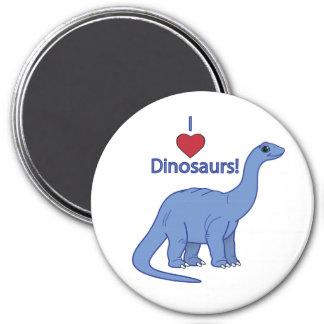 Amo dinosaurios: Apatosaurus Imán Redondo 7 Cm