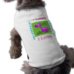 Amo dinosaurios camisa de perro