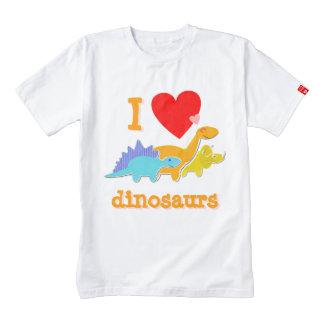 Amo dinosaurios (del corazón) playera zazzle HEART