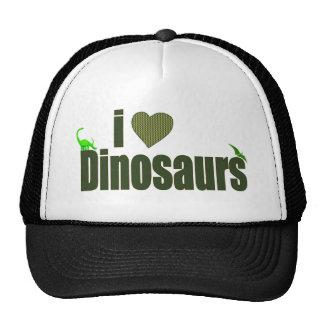 Amo dinosaurios gorras de camionero