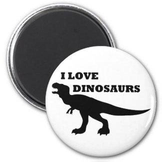 ¡Amo dinosaurios! Imán Redondo 5 Cm
