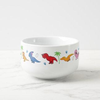 ¡Amo dinosaurios! (Lindo) Cuenco Para Sopa