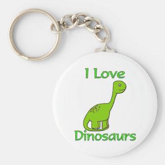 Amo dinosaurios llavero