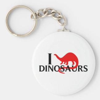 Amo dinosaurios llavero personalizado