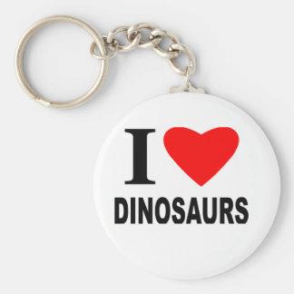 Amo dinosaurios llaveros personalizados