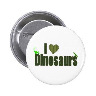 Amo dinosaurios pin redondo 5 cm