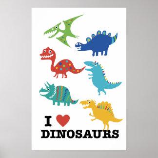 Amo dinosaurios póster