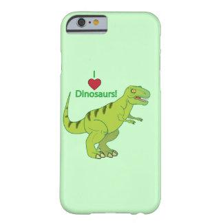 Amo dinosaurios: T-Rex Funda Barely There iPhone 6