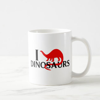 Amo dinosaurios taza clásica
