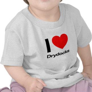amo diques secos camisetas