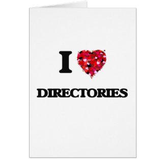 Amo directorios tarjeta de felicitación