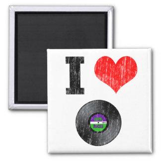 Amo discos de vinilo imán cuadrado