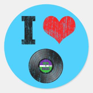 Amo discos de vinilo etiquetas