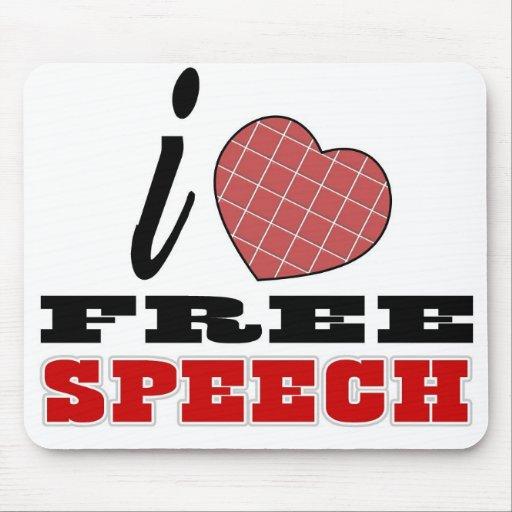 Amo discurso libre mousepad