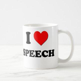 Amo discurso taza de café