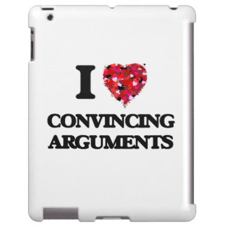 Amo discusiones convincentemente funda para iPad