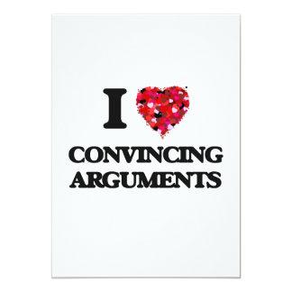 """Amo discusiones convincentemente invitación 5"""" x 7"""""""