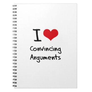 Amo discusiones convincentemente libretas espirales