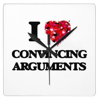 Amo discusiones convincentemente reloj cuadrado