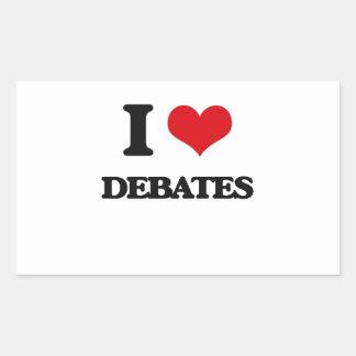 Amo discusiones rectangular altavoces