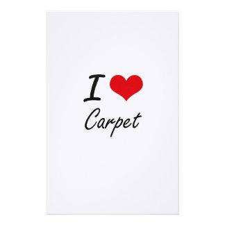 Amo diseño artístico de la alfombra papelería de diseño