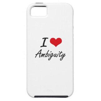 Amo diseño artístico de la ambigüedad iPhone 5 carcasa