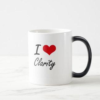 Amo diseño artístico de la claridad taza mágica