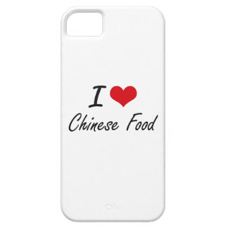 Amo diseño artístico de la comida china iPhone 5 fundas