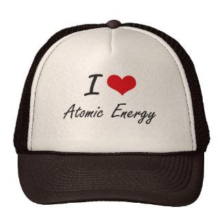 Amo diseño artístico de la energía atómica gorras