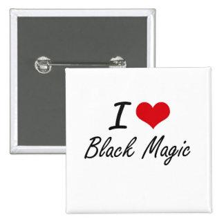 Amo diseño artístico de la magia negra pin cuadrada 5 cm