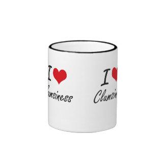Amo diseño artístico de la torpeza taza de dos colores