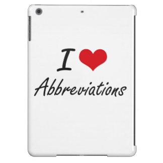 Amo diseño artístico de las abreviaturas funda para iPad air
