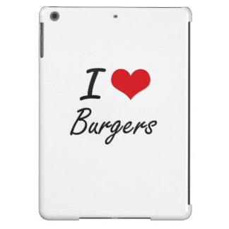 Amo diseño artístico de las hamburguesas funda para iPad air
