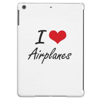 Amo diseño artístico de los aeroplanos funda para iPad air