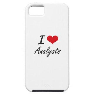 Amo diseño artístico de los analistas iPhone 5 fundas