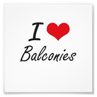 Amo diseño artístico de los balcones cojinete