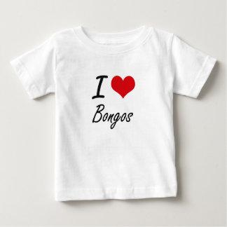 Amo diseño artístico de los bongos playera